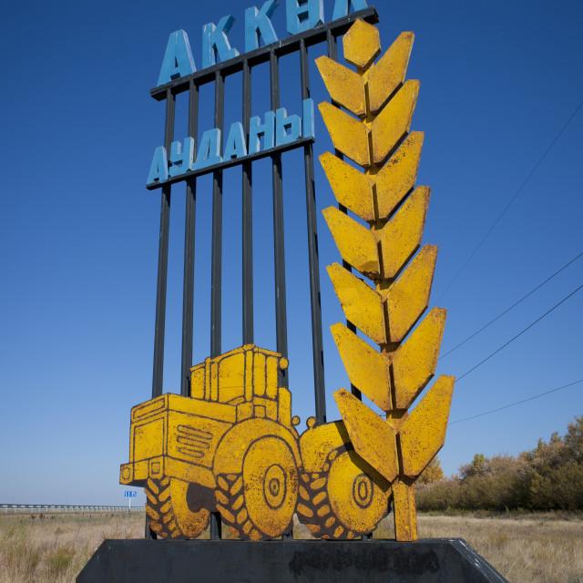 """Farm Between Astana And Burabay, Kazakhstan"" stock image"