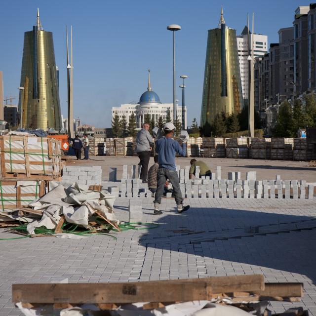 """Roadworks In Astana Streets, Kazakhstan"" stock image"
