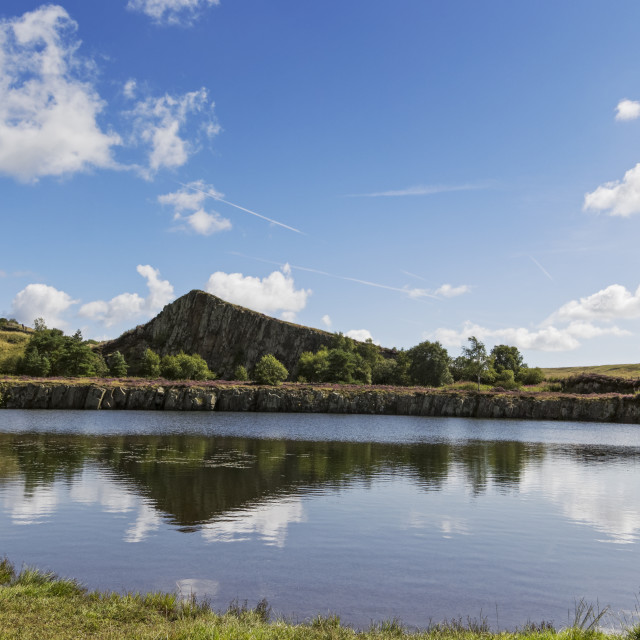 """""""Cawfields Quarry in the Northumberland National Park, UK"""" stock image"""