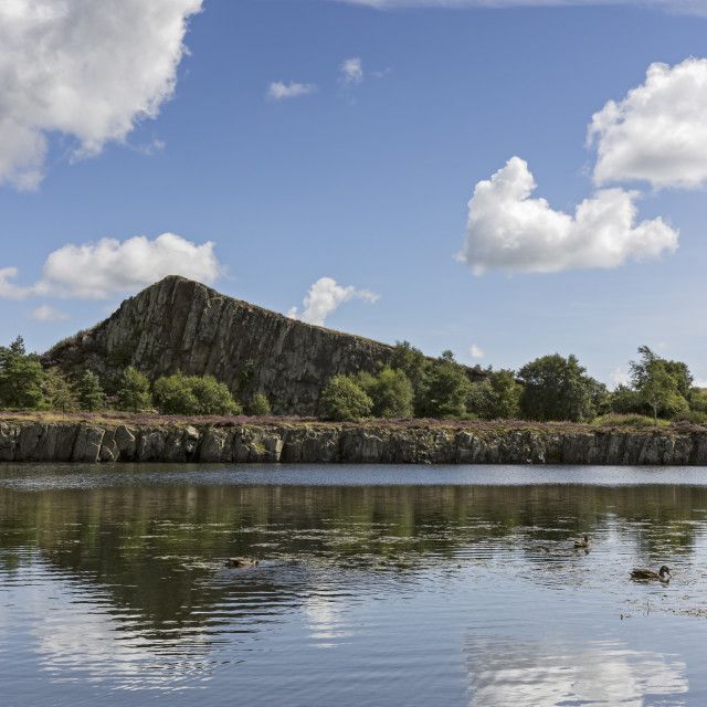 """""""Cawfields quarry, Northumberland"""" stock image"""