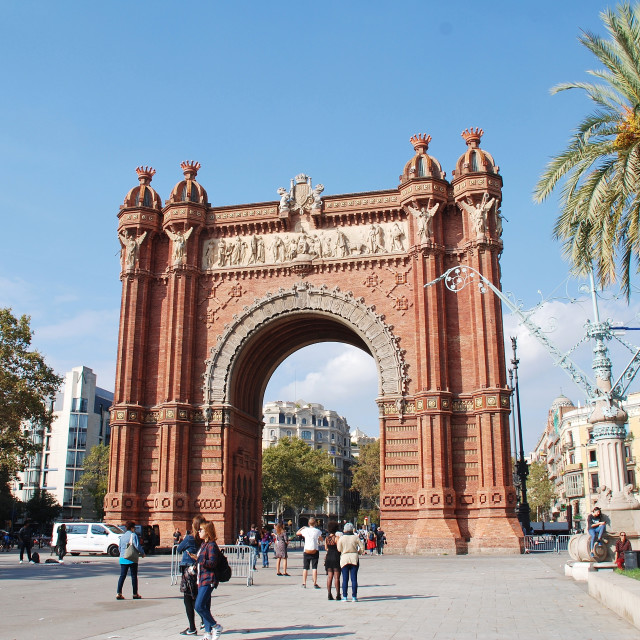 """The Arc de Triomf in Barcelona"" stock image"
