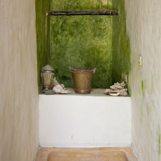 """A Well In Typical Manda Island House, Lamu, Kenya"" stock image"