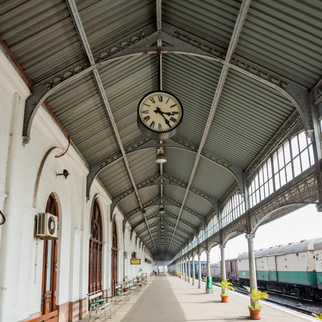 """Railway Station, Maputo, Mozambique"" stock image"