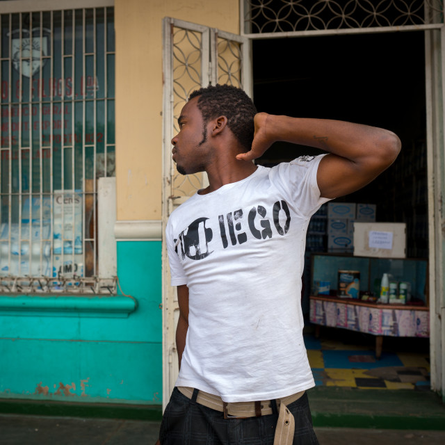 """Man In The Street, Maputo, Mozambique"" stock image"