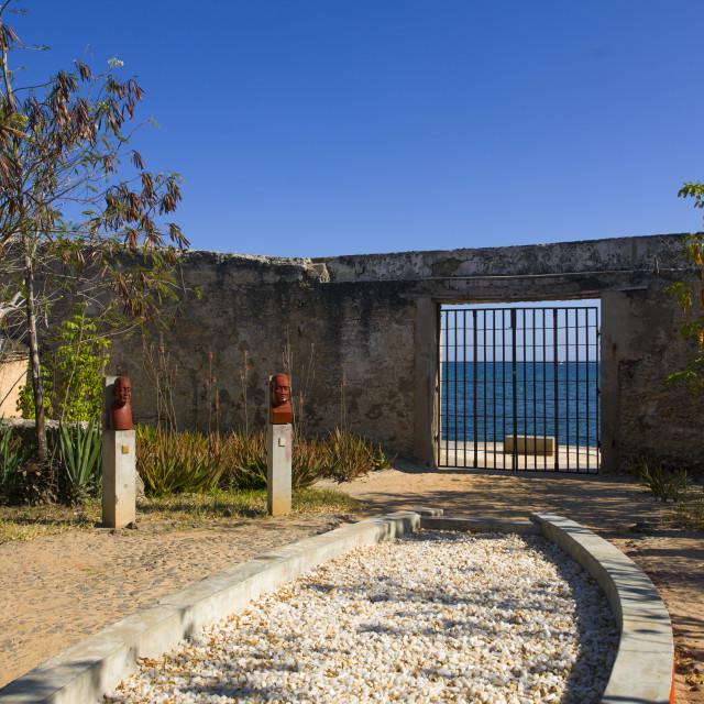 """Garden Of Memory For Slave Trade, Island Of Mozambique, Mozambique"" stock image"