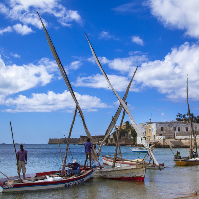 """Harbour, Island Of Mozambique, Mozambique"" stock image"