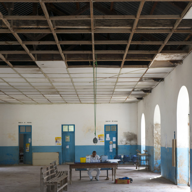 """""""The Old Hospital, Island Of Mozambique, Mozambique"""" stock image"""