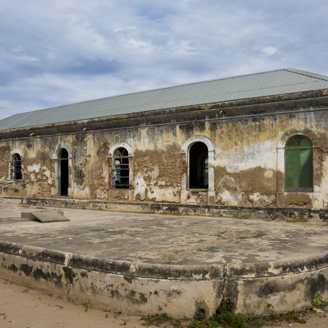 """The Old Hospital, Island Of Mozambique, Mozambique"" stock image"