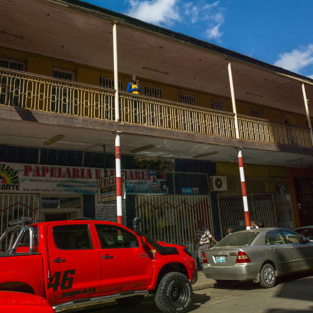 """Old Portuguese Colonial Building, Maputo, Mozambique"" stock image"