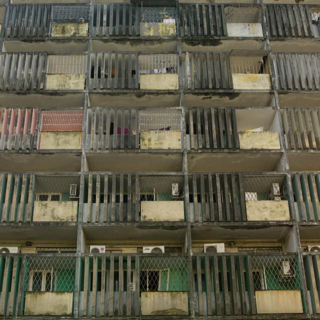 """Apartment Block, Maputo, Mozambique"" stock image"