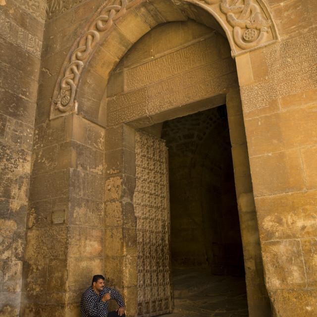 """Entrance Of Aleppo Citadel, Syria"" stock image"