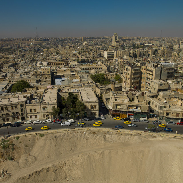 """""""View From Aleppo Citadel, Syria"""" stock image"""
