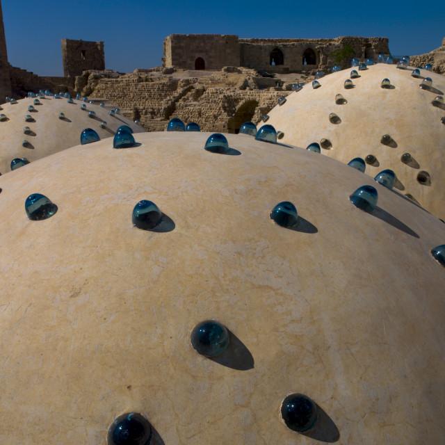 """Baths Domes Inside The Aleppo Citadel, Syria"" stock image"