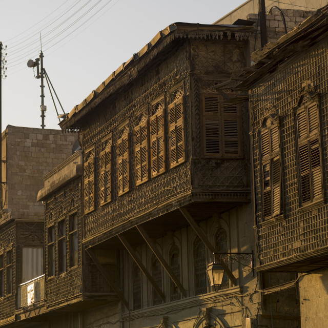 """""""Old House Moucharabieh In Aleppo, Syria"""" stock image"""