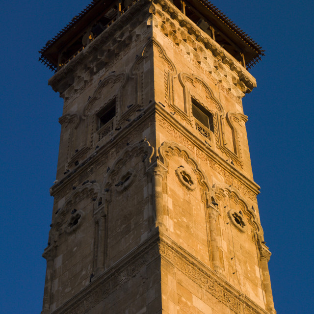 """""""Minaret Of The The Great Mosque, Aleppo, Syria"""" stock image"""