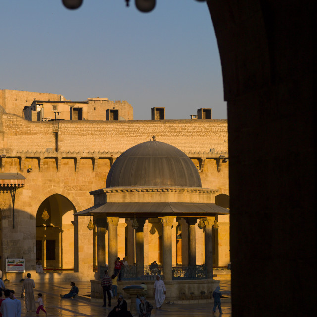 """""""The Great Mosque, Aleppo, Syria"""" stock image"""