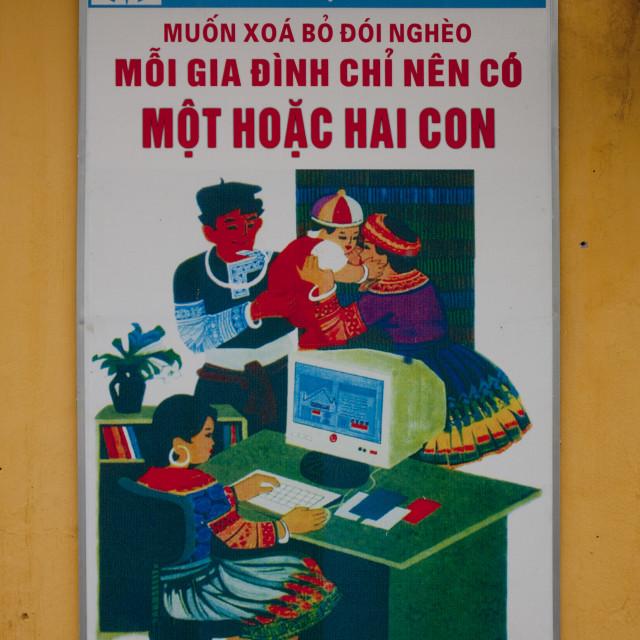 """""""Propaganda Poster In Sapa, Vietnam"""" stock image"""