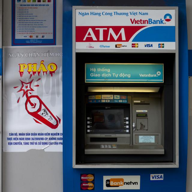 """""""Atm Cash Machine In Hanoi, Vietnam"""" stock image"""