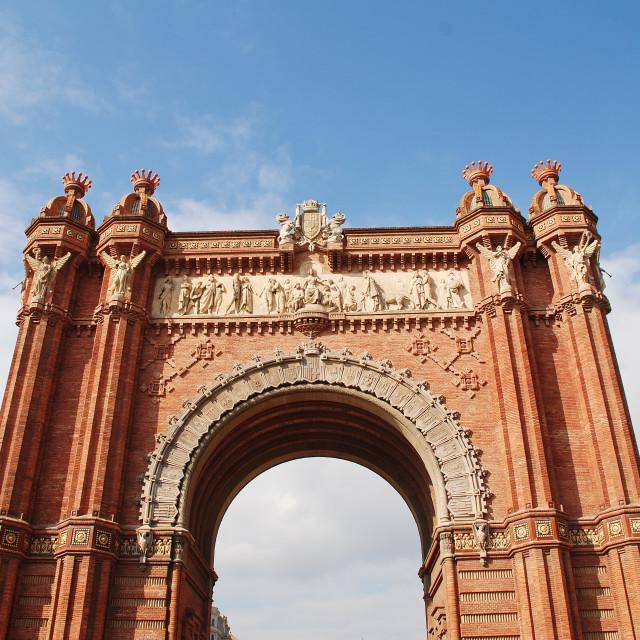 """Arc de Triomf in Barcelona"" stock image"