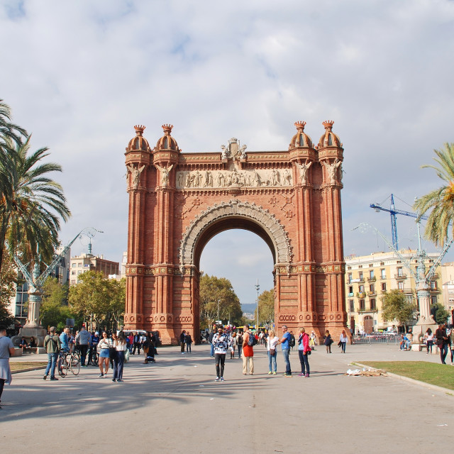 """The Arc de Triomf landmark, Barcelona"" stock image"