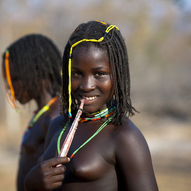 Topless african girls on the beach