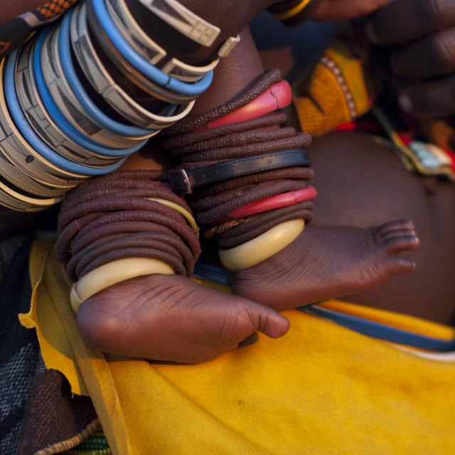 """Mucawana Bracelets, Village Of Oncocua, Angola"" stock image"