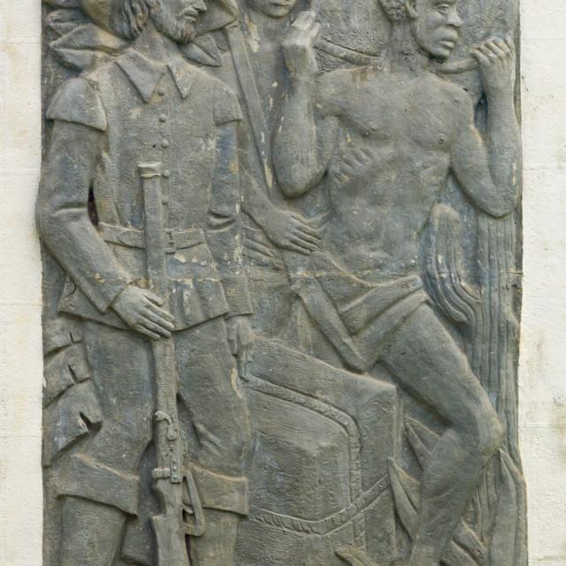 """""""Engravings About Slavery, Benguela, Angola"""" stock image"""