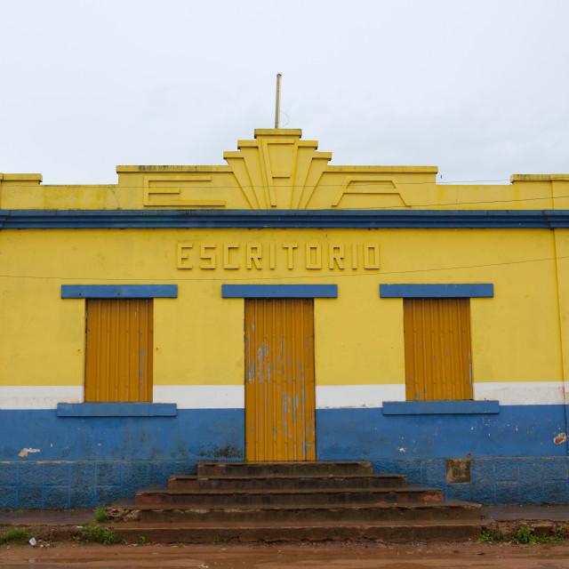 """House Of A Public Writter, Kuito, Angola"" stock image"