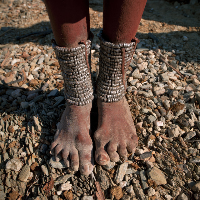 """Himba Woman S Ankle Bracelets, Angola"" stock image"