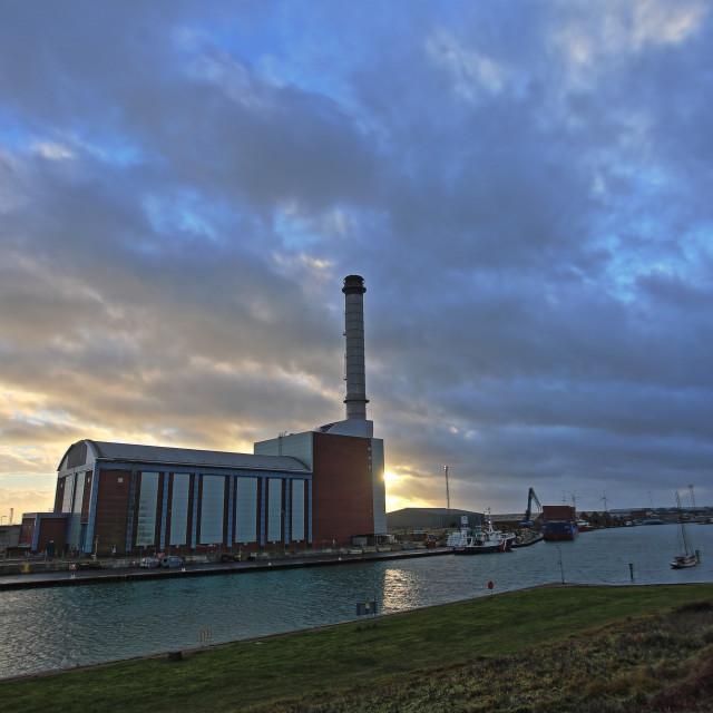 """""""Shoreham Power Station"""" stock image"""