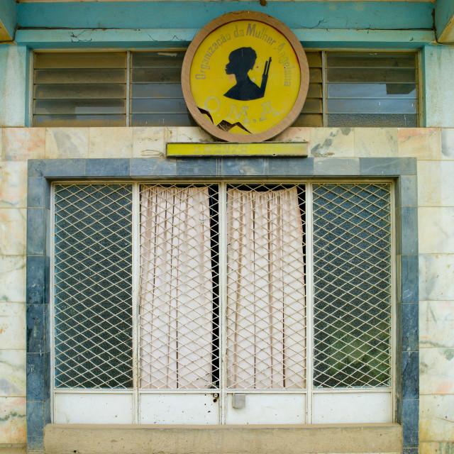 """Building Of The Organization Of Angolan Women, Sumbe, Angola"" stock image"