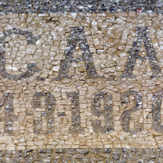 """Mosaic At The Artistic Center, Benguela, Angola"" stock image"