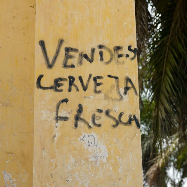 """Selling Fresh Beer, Benguela, Angola"" stock image"