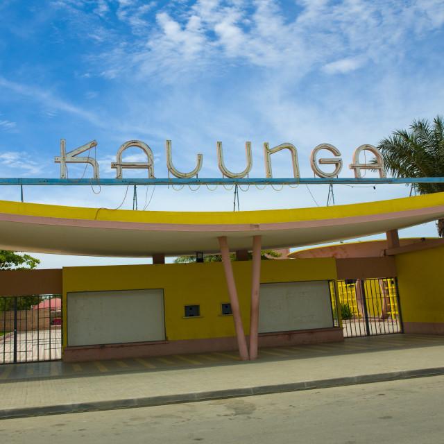 """Kalunga, An Old Art Deco Cinema Theater, Benguela, Angola"" stock image"