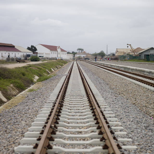 """Railway In Benguela, Angola"" stock image"