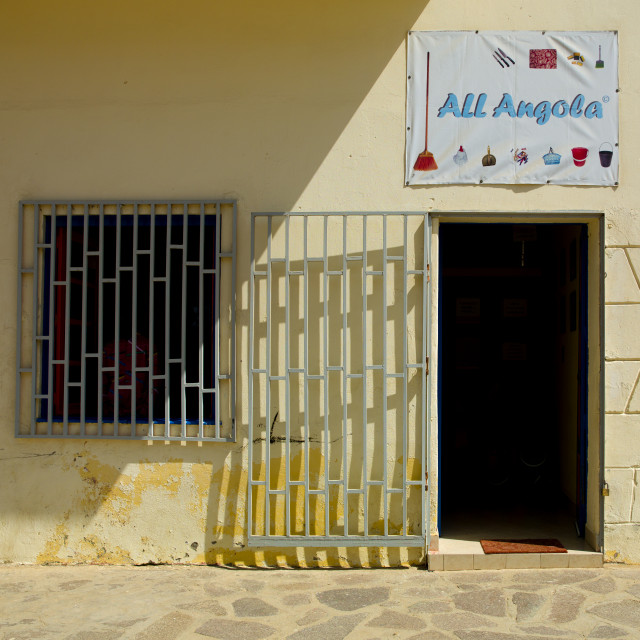 """Store Selling Goods Made In Angola, Namibe Town, Angola"" stock image"