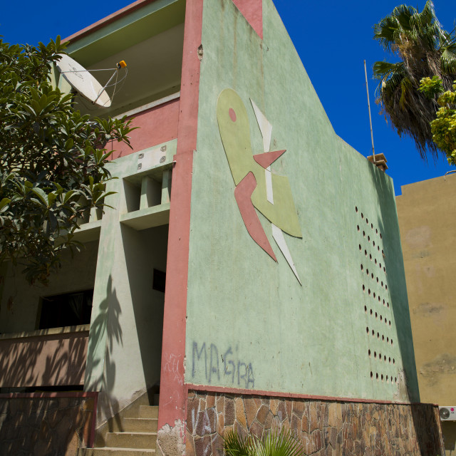 """""""Former Portuguese House In Namibe Town, Angola"""" stock image"""
