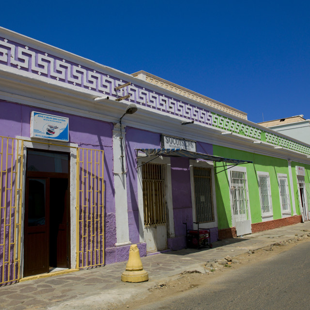"""Old Colonial Building In Namibe Town, Angola"" stock image"