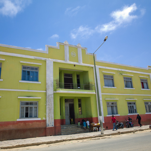 """""""Former Portuguese Building In Namibe Town, Angola"""" stock image"""