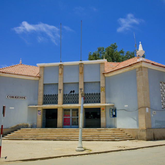 """""""Post Office In Namibe Town, Angola"""" stock image"""