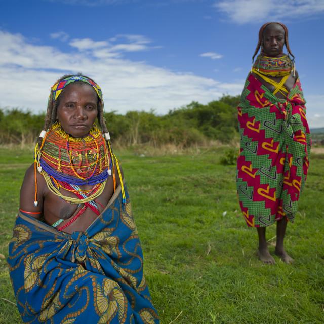 """Mwila Women With Togas, Chibia Area, Angola"" stock image"
