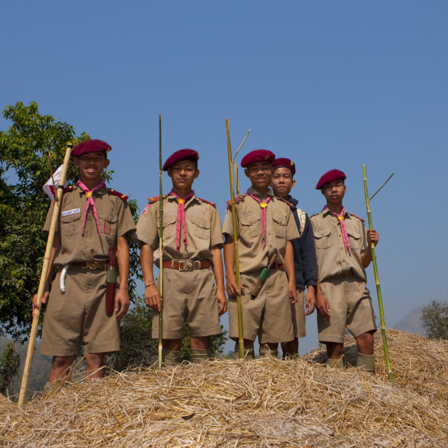 """""""Scouts in mae hong son area, Thailand"""" stock image"""