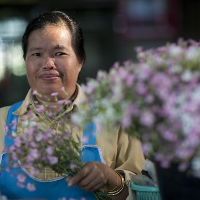 """Mae hong son market, Thailand"" stock image"
