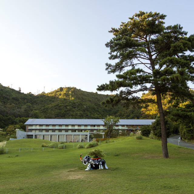 """Benesse house hotel, Seto Inland Sea, Naoshima, Japan"" stock image"
