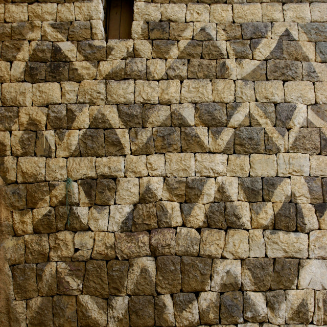 """Detail Of A Decorated House Wall In Al Hajjara, Yemen"" stock image"