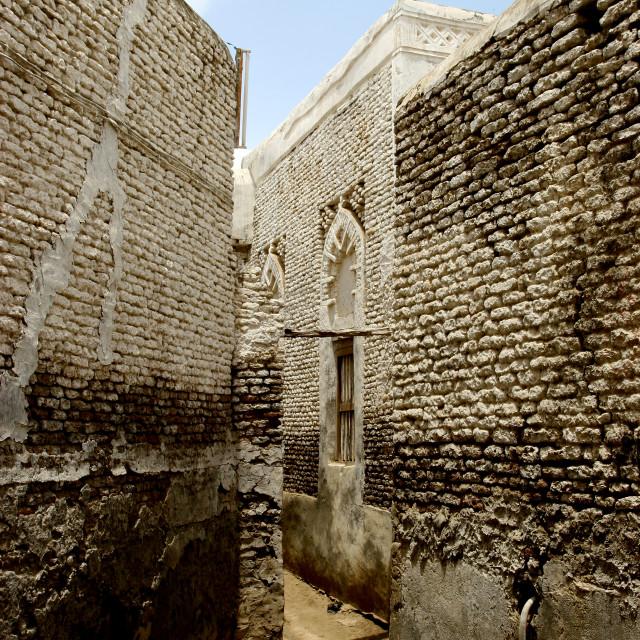 """Narrow Street In Zabid, Yemen"" stock image"