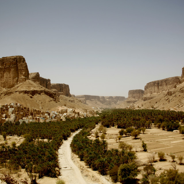 """View Of Wadi Doan, Hadramaut, Yemen"" stock image"