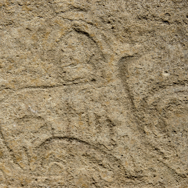 """Prehistoric Carving, Wadi Dhar, Yemen"" stock image"