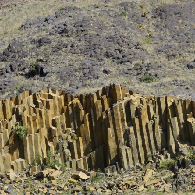 """Basalt Columns, Yemen"" stock image"