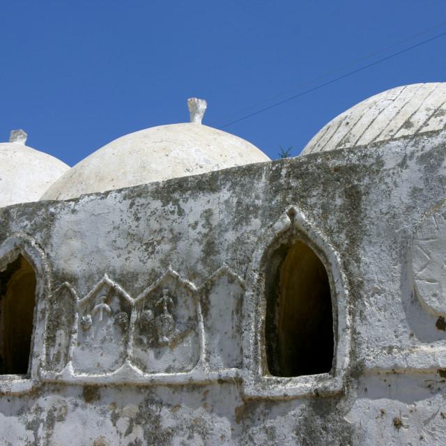 """Domes On The Top Of A Public Bath, Al Ganat, Yemen"" stock image"